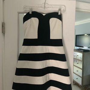 Laundry black & white cocktail dress